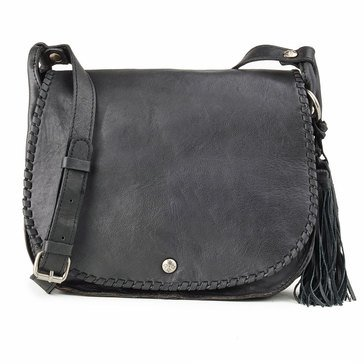 Patricia Nash Adria Veg Tan Saddle Bag Black