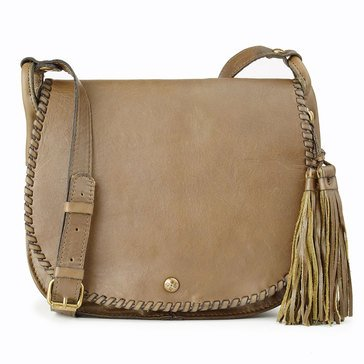 Patricia Nash Adria Veg Tan Saddle Bag Olive