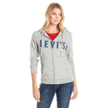 Levi's Women's Classic Zip Front Hoodie Heather