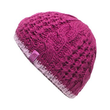 The North Face Girls' Cable Minna Beanie, Roxbury Pink