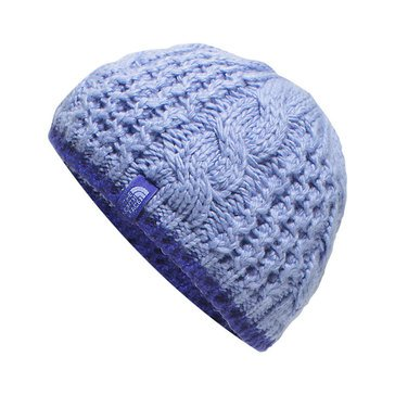 The North Face Girls' Cable Minna Beanie, Grapemist Blue