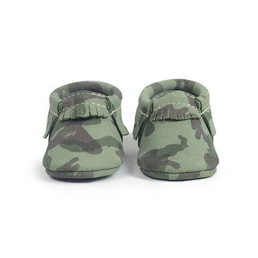 Freshly Picked Moccasins Green Camo Size 1