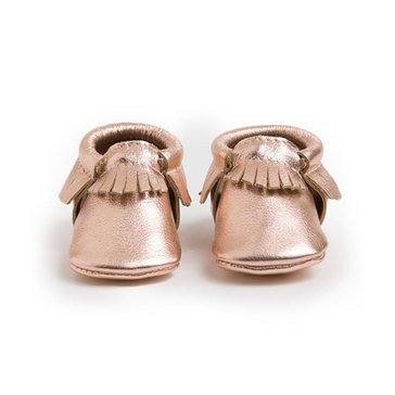 Freshly Picked Moccasins, Rose Gold - Size 2