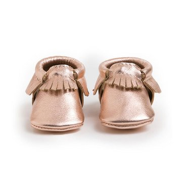 Freshly Picked Moccasins, Rose Gold - Size 3
