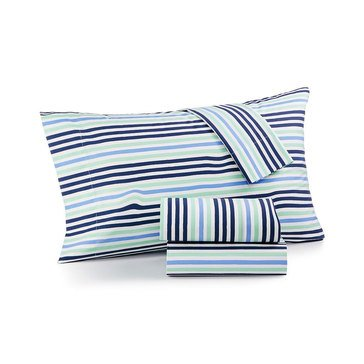 Martha Stewart Whim Collection 200 Thread-Count Sheet Set, Brushstroke - Full
