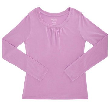 French Toast Toddler Girls' Crew Tee Lavender