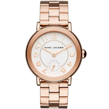 Marc Jacobs Women's Classec Riley Rose Gold Bracelet Watch 36mm