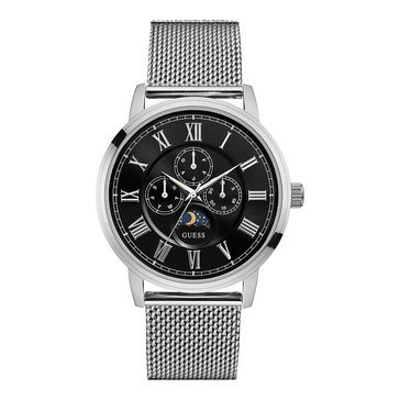 Guess Men's Delancy Stainless Steel Mesh Strap Watch 43mm