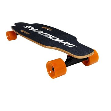 Swagtron Swagboard Electric Motorized Skateboard - Black