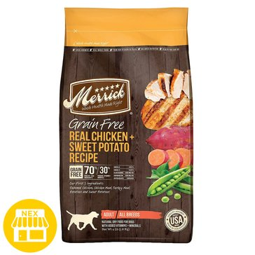Merrick Lil' Plates Grain Free Real Chicken & Sweet Potato Recipe Dry Dog Food, 4 lbs.