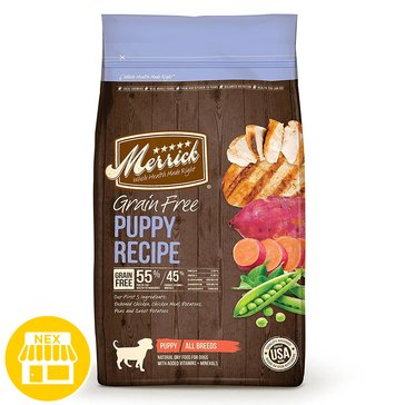 Merrick Grain Free Puppy Recipe Dry Dog Food, 4 lbs.