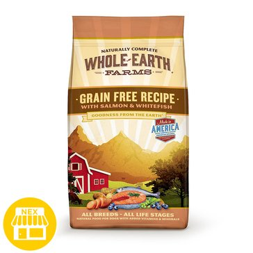 Merrick Whole Earth Farms Grain Free Salmon & Whitefish Recipe Dry Dog Food, 25 lbs.