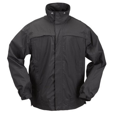5.11 Tactical Men's Tac Dry Rain Shell Jacket in Black