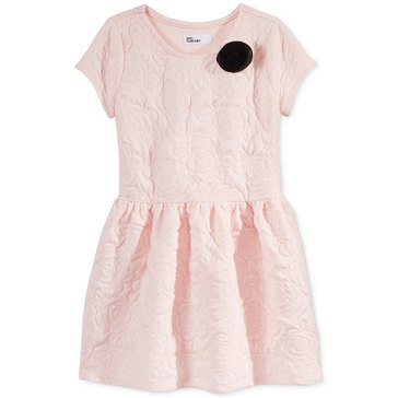 Epic Thread's Girls' Rose Text Knit Dress
