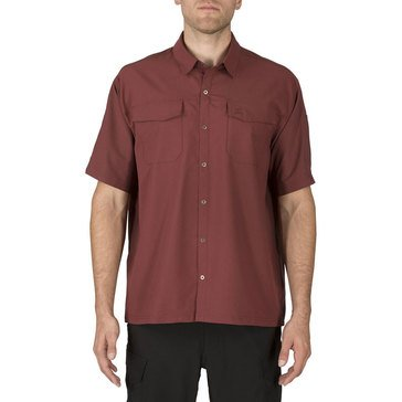 5.11 Men's Freedom Flex Woven Short Sleeve Shirt Burgundy