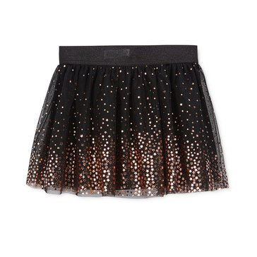 Epic Threads Little Girls' Foil Star Tulle Skirt Black
