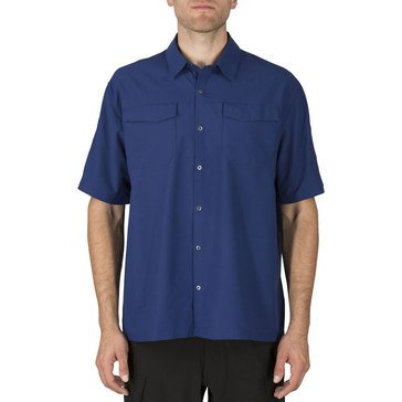 5.11 Men's Freedom Flex Woven Short Sleeve Shirt Bright Blue