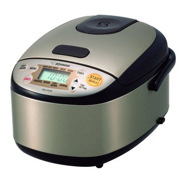 Zojirushi Micom Rice Cooker & Warmer, Stainless Dark Brown (NS-LHC05XT)