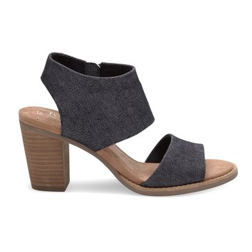 Toms Majorca Women's Cutout Sandal Black Denim