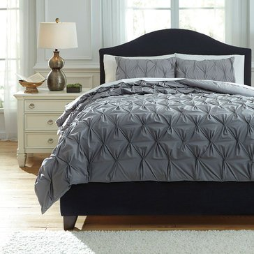 Signature Design By Ashley 3-Piece Rimy Comforter Set, Queen