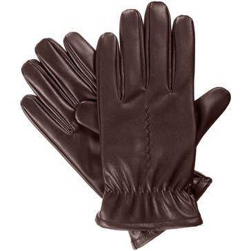 Totes-Isotoner Glove - Smart Touch Faux Nappa Fleece-Brown