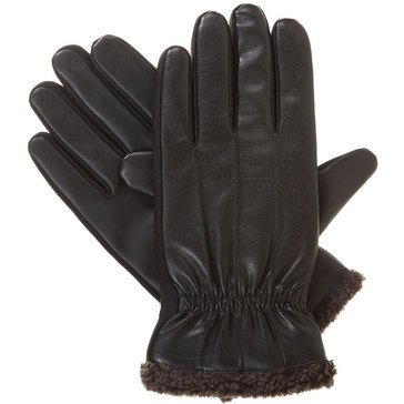 Totes-Isotoner Glove - Smart Touch ThermaFlex Faux Nappa - Black