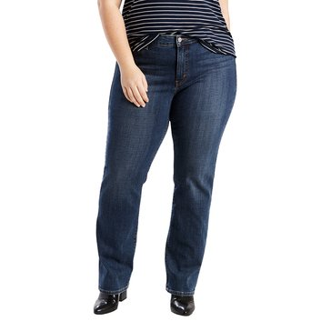 Levi's Women's Plus 414 Relaxed Straight Leg Jean Oak Blues 32