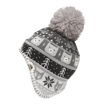 The Northface Infant Boy Baby Faroe Beanie Metallic Silver