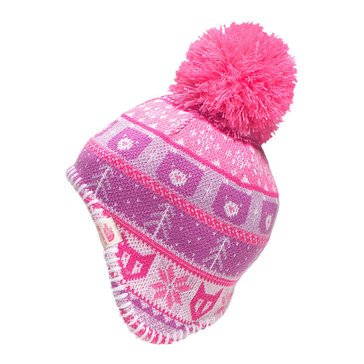 The North Face Baby Girls' Faroe Beanie, Cha Cha Pink/Lupine