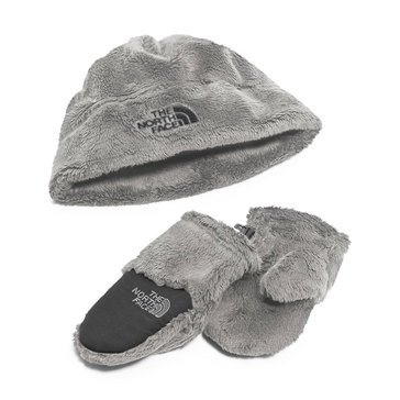 The North Face Baby Boys' Oso Cute Boxed Set, Metallic Silver