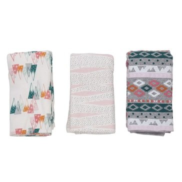 Rosie Pope Baby Girls' 3-Pack Blankets