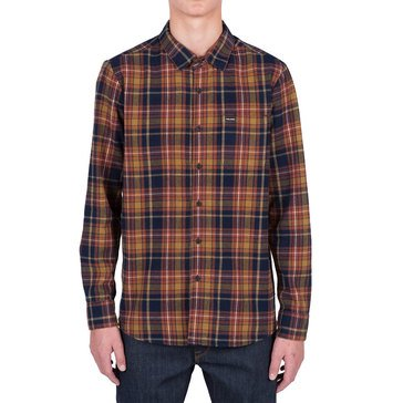 Volcom Men's Shefield Long Sleeve Flannel Plaid Shirt