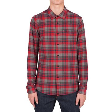 Volcom Men's Hewitt Long Sleeve Flannel Plaid Shirt
