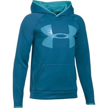 Under Armour Big Boys' Storm Highlight Hoodie, Peacock