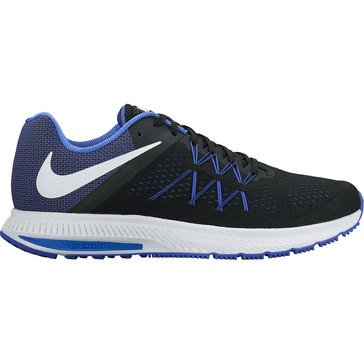 Nike Zoom Winflow 3 Men's Running Shoe Black/ White/ Paramount Blue