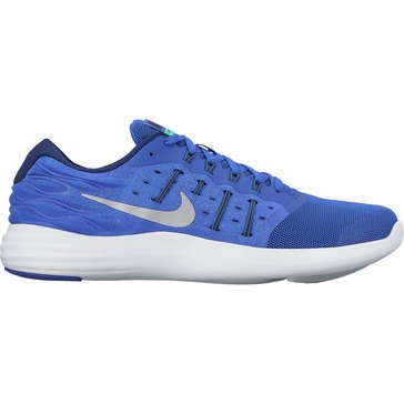 Nike Lunar Stelos Men's Running Shoe Paramount Blue/ Metallic Silver/ Blue Moon