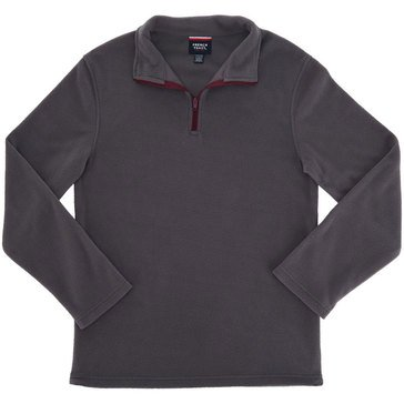 French Toast Toddler Boys' 1/4 Zip Micro Fleece Top, Gray