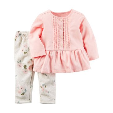 Carter's NB Girls' 2pc Floral Tunic Set