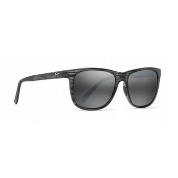 Maui Jim Unisex Tailspin Matte Grey Stripe Frame Grey Lens Sunglasses 53mm