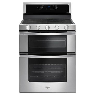 Whirlpool 6.7-Cu.Ft. Double Oven Gas Range w/ True Convection, Stainless Steel (WGG745S0FS)
