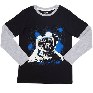 French Toast Toddler Boys' Astronaunt Tee, Black