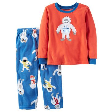 Carter's Toddler Boys' 2-Piece Bedtime Yeti Pajamas, Red