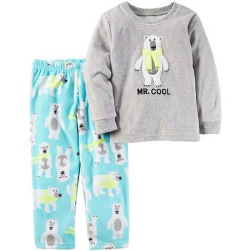 Carter's Toddler Boys' 2-Piece Mr. Cool Polar Bear Pajamas, Heather