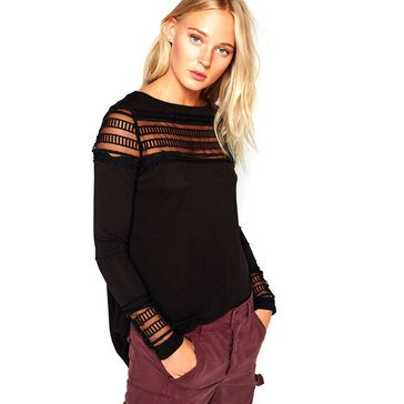 Free People Roxie Mesh Tee with Insert