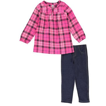 Carter's Toddler Girls' 2 Piece Flannel Legging Set