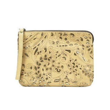 Patricia Nash Cassini Wristlet Vintage Laser in Wheat