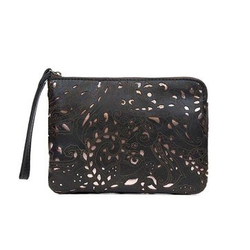 Patricia Nash Cassini Wristlet Vintage Laser Lace in Black