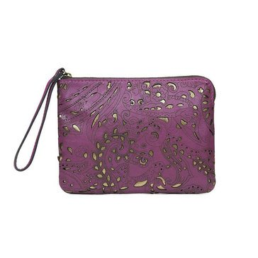 Patricia Nash Cassini Wristlet Vintage Laser Lace in Rose