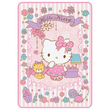 Hello Kitty Holiday Big Throw, Girly Flower 78