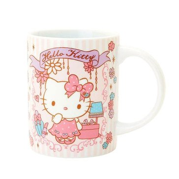 Hello Kitty Holiday Ceramic Mug, Girly Flower